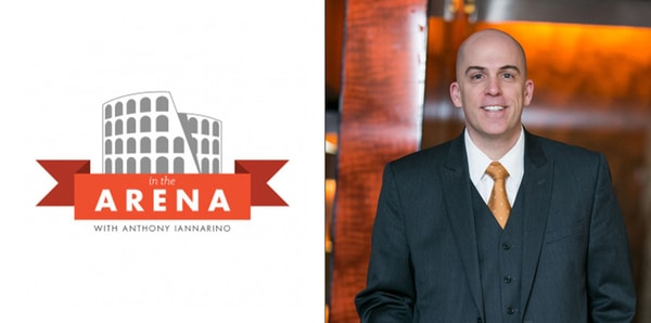 in the arena podcast logo with snapshot of Anthony Iannarino