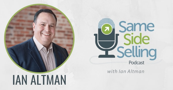 same side selling podcast logo with snapshot of Ian Altman