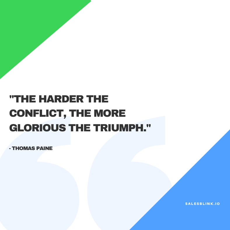 sales motivational quote by - Thomas Paine