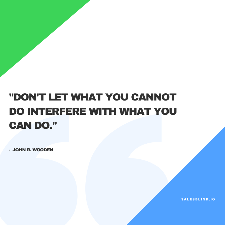 inspirational quote by John R. Wooden