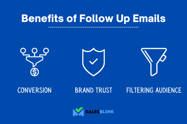 the three benefits of follow up emails