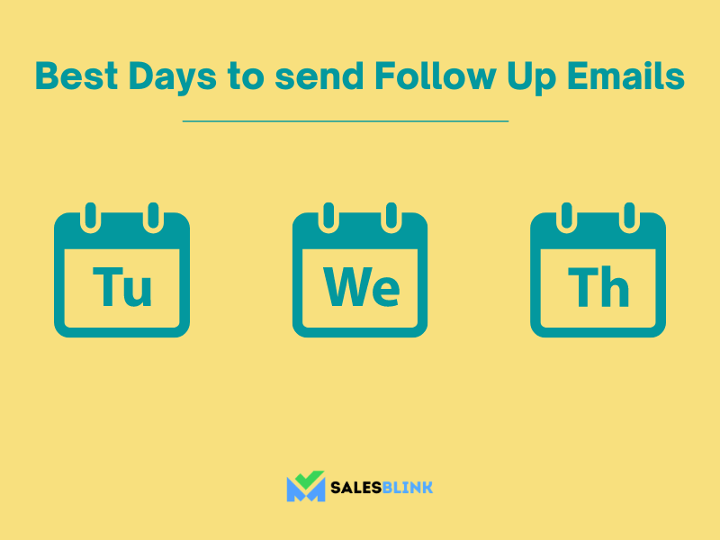 best day of the week to send follow up emails