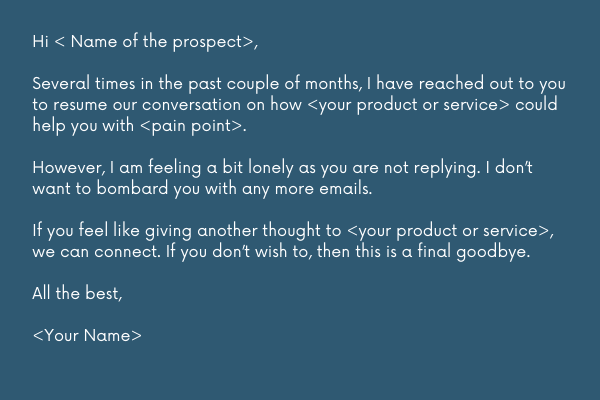 breakup email template for saying goodbye