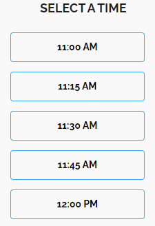 option to select a time for the meeting through meeting scheduler.