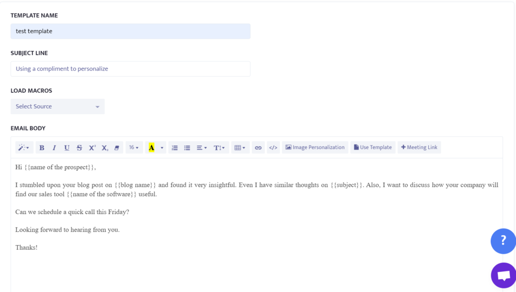 example of using compliment to personalize cold emails.