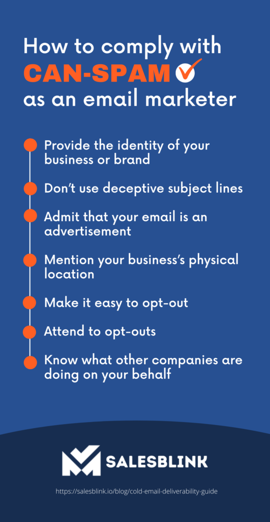 Infographic on how to comply with CAN-SPAM