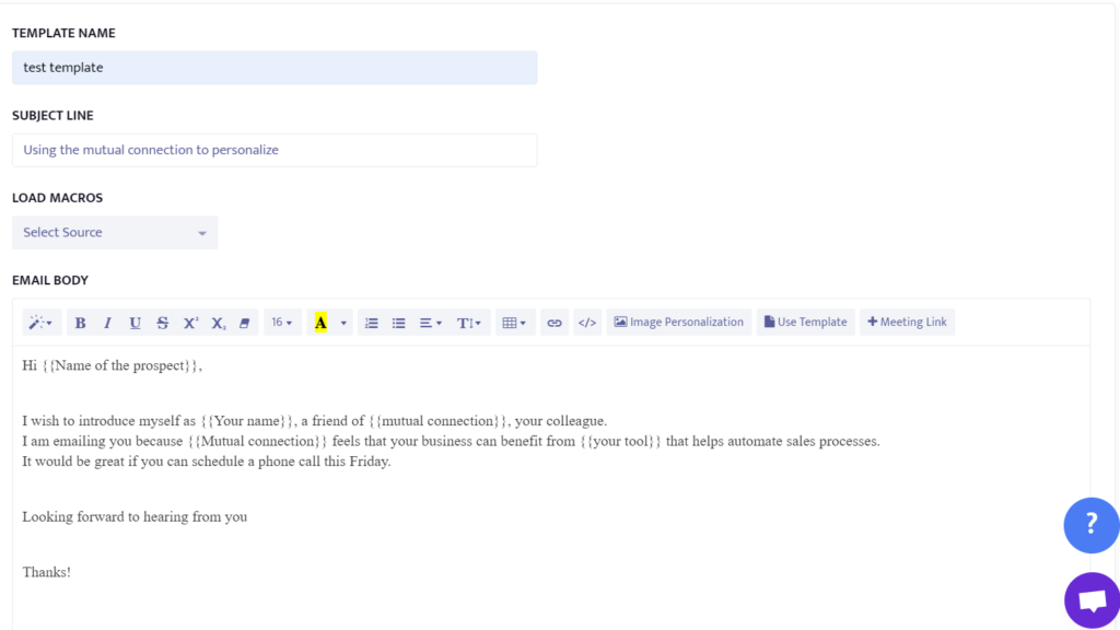 example of using mutual connection to personalize cold emails.
