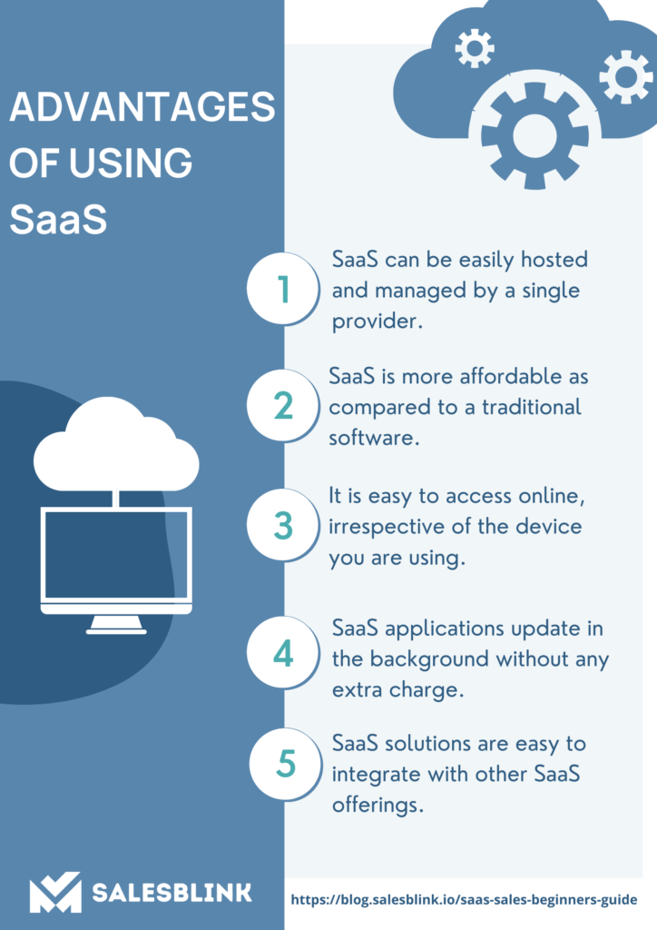 Infographic on Advantages of using SaaS