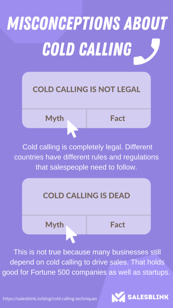 misconception about cold calling